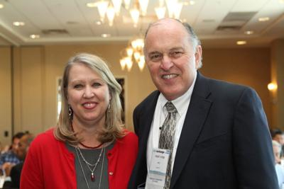 Tina Wolfe, vice president of Hunt Investment Management, and Bob Ayoub, Mimco's chief public relations officer