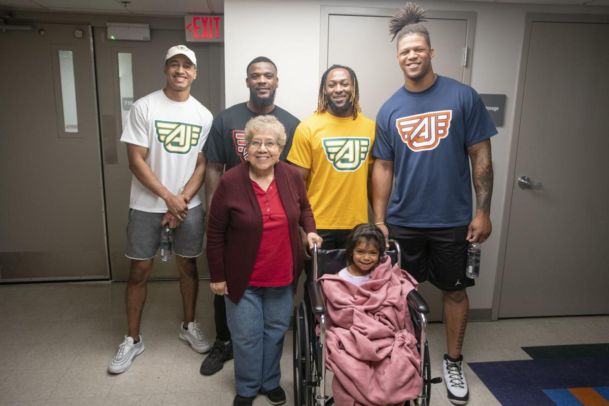 NFL Players Visit Patients at Las Palmas