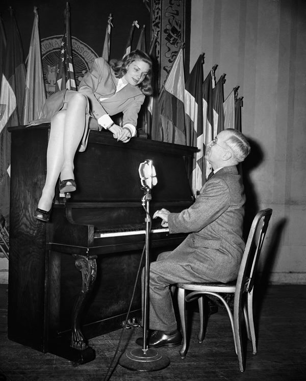 Going viral in 1945: Bacall, piano and vice president | Wire ...
