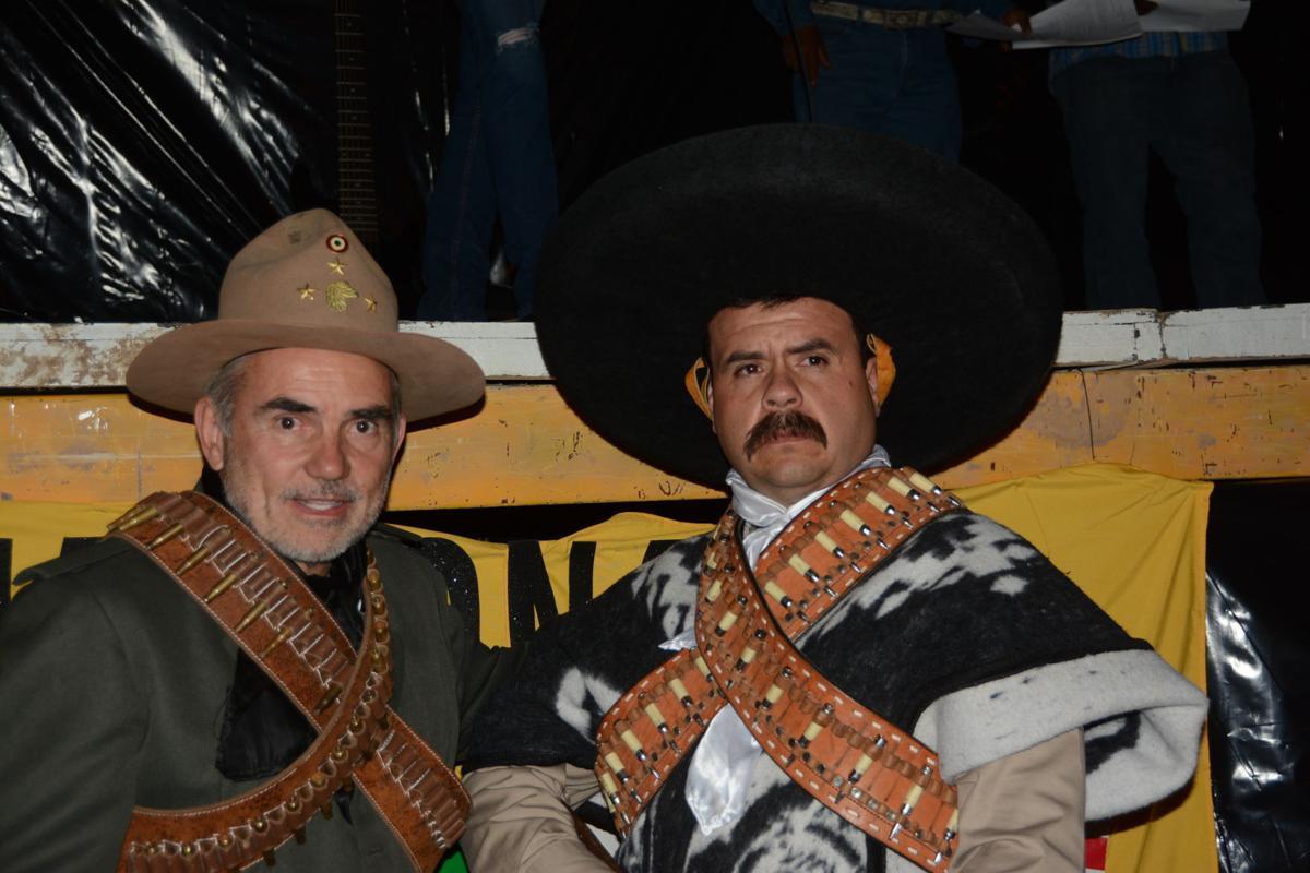 Gen. Pershing, left, and Gen. Villa