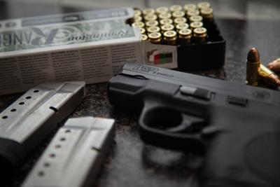 A M&P Shield handgun