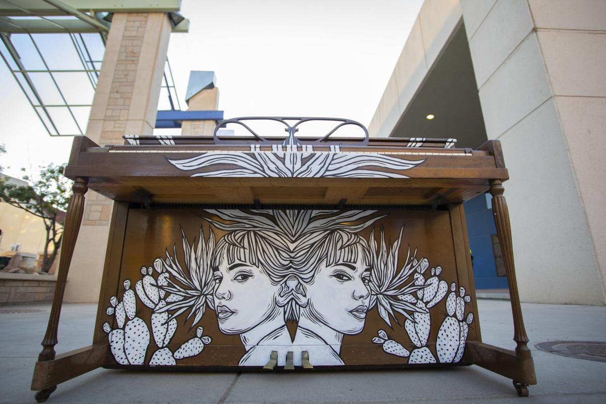 Painted piano by Christin Apodaca