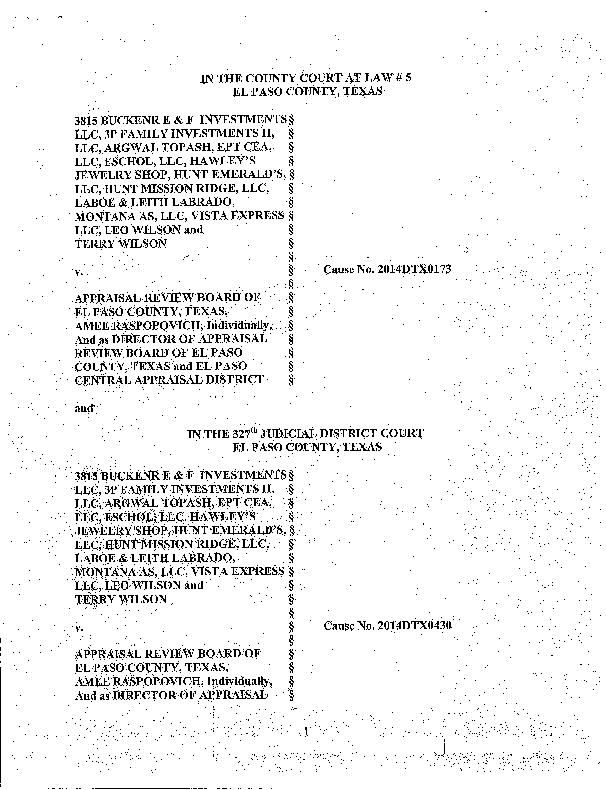 Suit Alleges Property Value Hearings Rigged Local News Elpasoinc