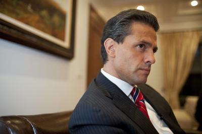 Enrique Pena Nieto during an interview