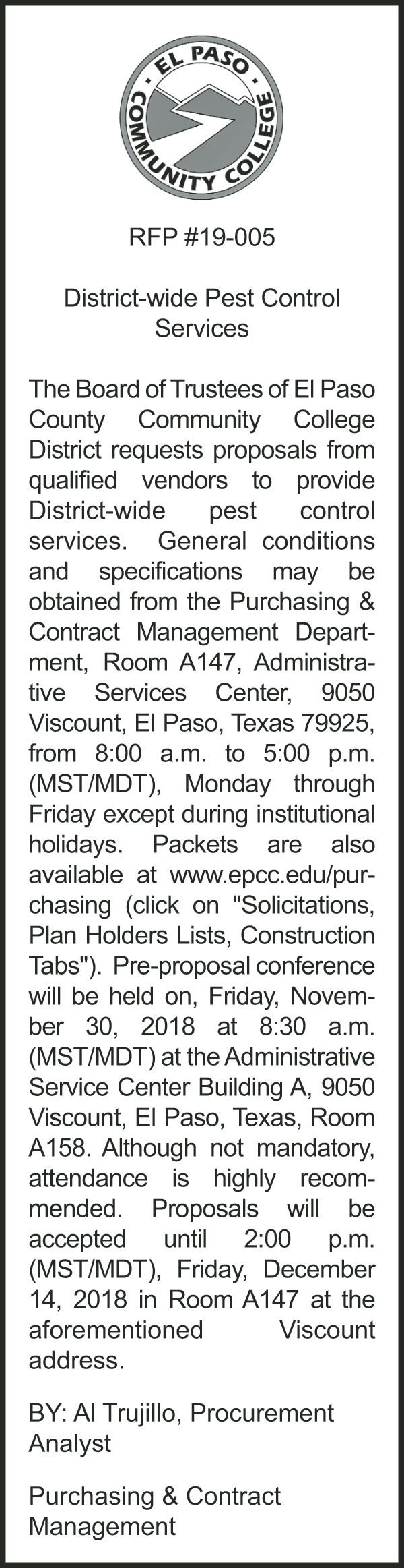 Legal notice for November 18-24