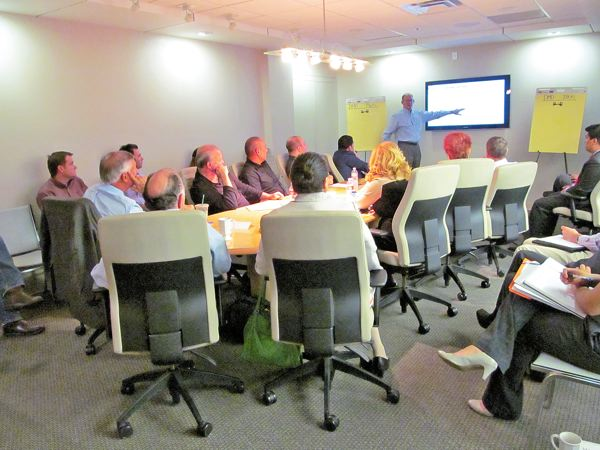Board members of the Downtown Management District met Oct. 16 for a strategic planning session.