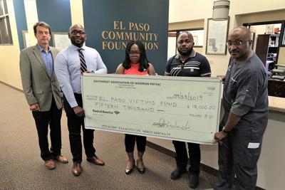 Southwest Association of Nigerian Physicians donated $15,000 to the El Paso Shooting Victims' Fund