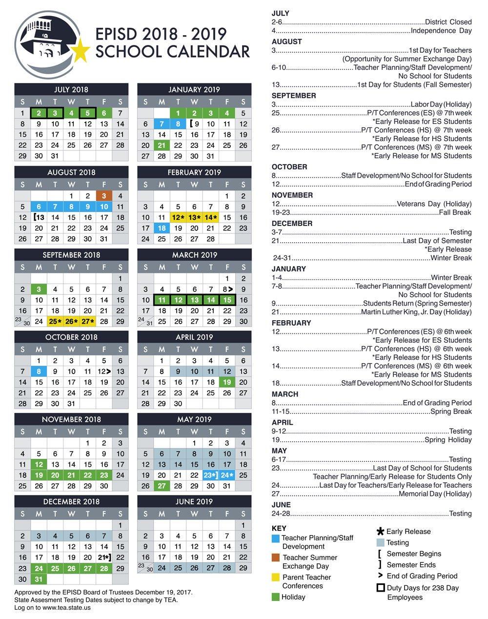 Episd Calendar 2020 EPISD online registration is open | Special Sections | elpasoinc.com