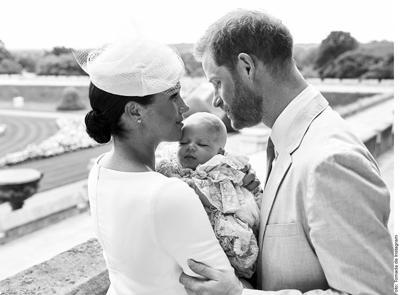 Meghan, Harry y bebé