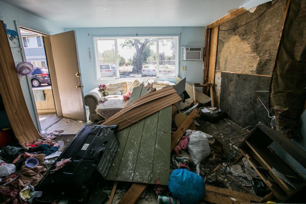 Apartamento que chocó un vehículo
