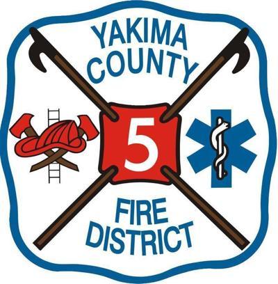 Logotipo del Distrito 5 de bomberos