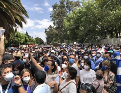 Protesta personal médico privado