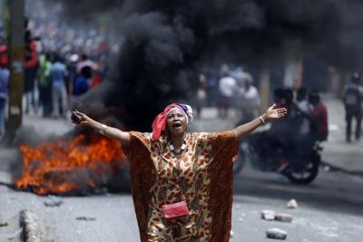 Manifestación en Haití