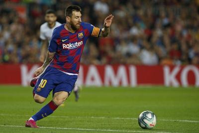 Delantero argentino Lionel Messi