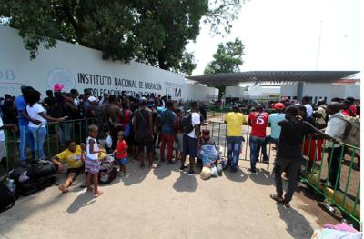 Migrantes al sur de México