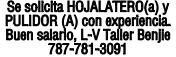 EMPLEO HOJALATERO(A) Y PULIDOR (A)