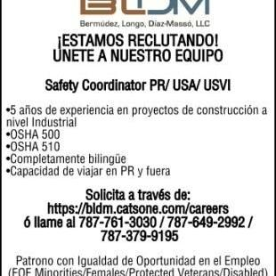 SAFETY COORDINATOR PR/USA/USVI
