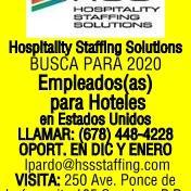 HSS EMPLEADOS PARA HOTELES