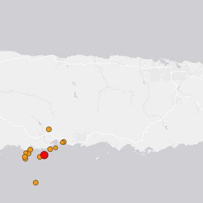 Reportan sismo de magnitud 5.0 en Puerto Rico