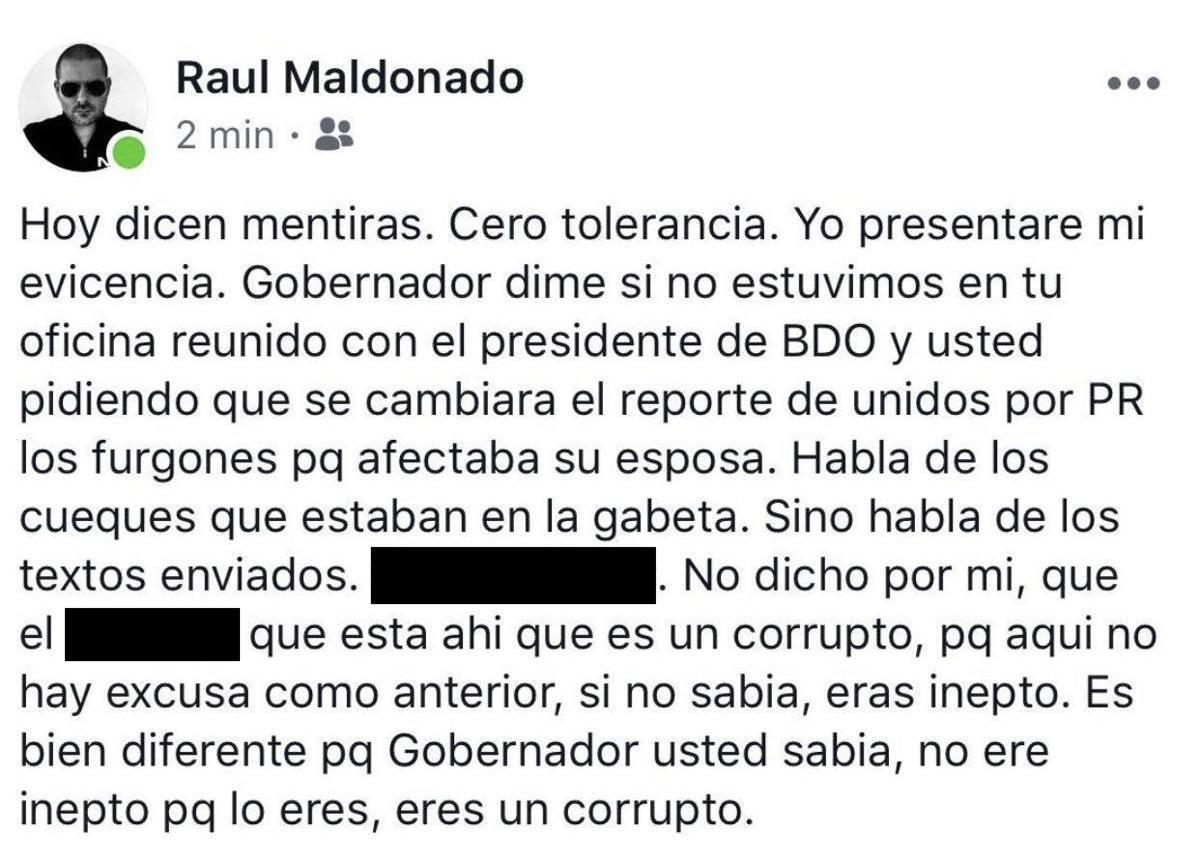 Raúl Maldonado Facebook