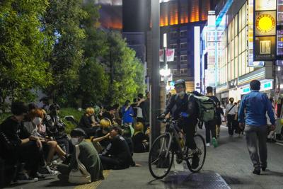 Tokyo Olympics Defiant Drinkers