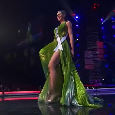 Así fue la presentación de Estefanía Soto en la competencia preliminar de Miss Universe