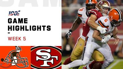 49ers siguen perfectos tras apalear 31-3 a Mayfield y Browns
