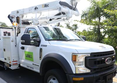 Camión LUMA Energy
