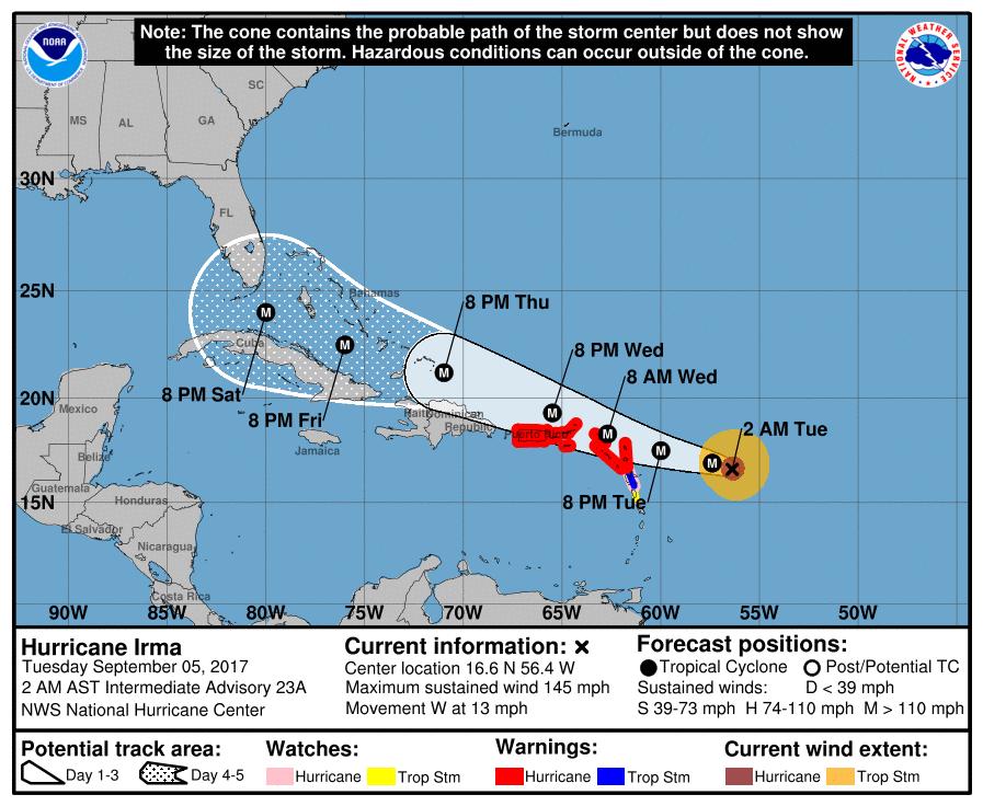 Medio millón de abonados sin servicio eléctrico por huracán Irma