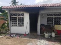Pareja y tres menores resultan heridos al estallar tanque de gas