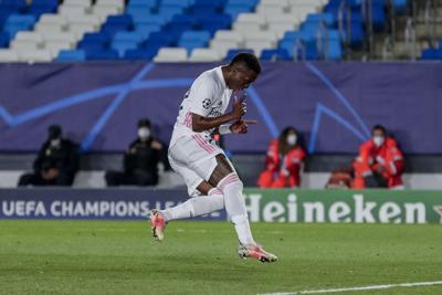 Vinícius dispara al Madrid en la Champions