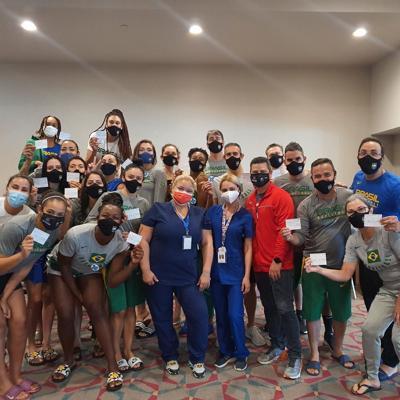 Equipo de Brasil se vacuna en la Isla