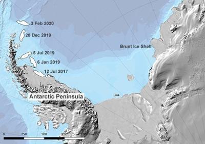 El iceberg más grande del mundo está a punto de entrar al océano abierto