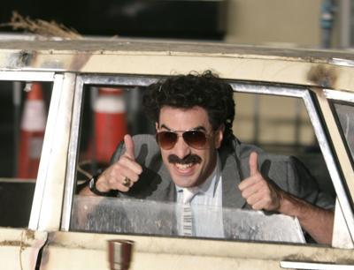 Borat provoca a los allegados de Trump