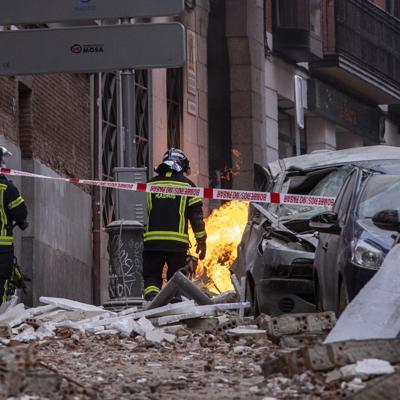 Fuerte explosión sacude el centro de Madrid