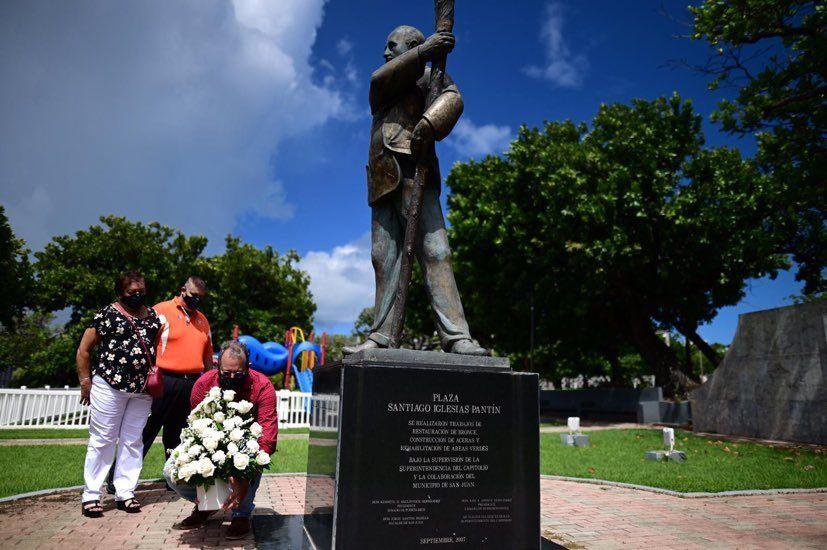 Santiago Iglesias Pantin, monumento