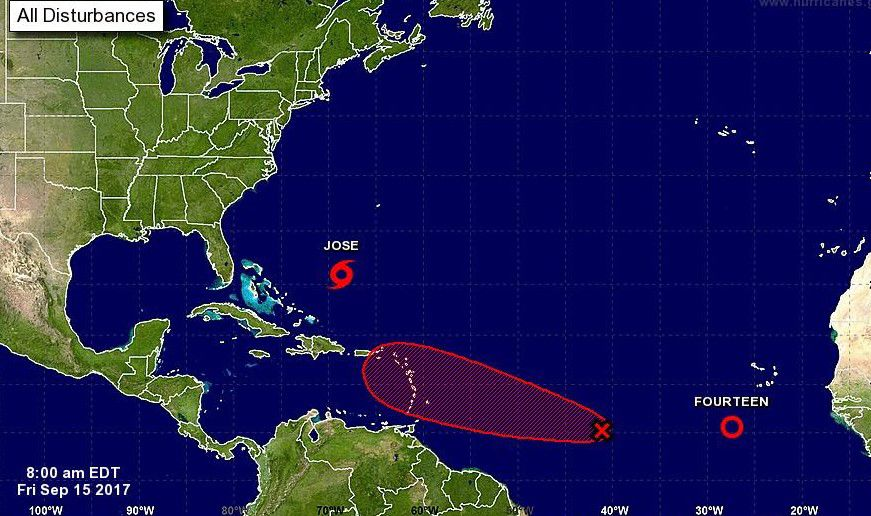 A punto de formarse la tormenta tropical Lee