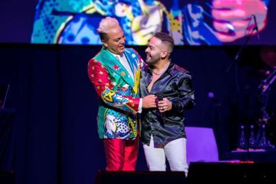 El boricua José Alfredo se goza su participación en el concierto de Cristian Castro