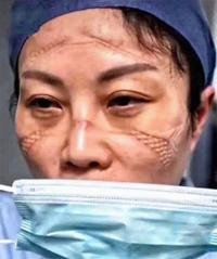 Así se ven los rostros del personal médico trabajando durante pandemia