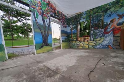 Artistas restauran y complementan obra de Héctor Collazo en Cidra