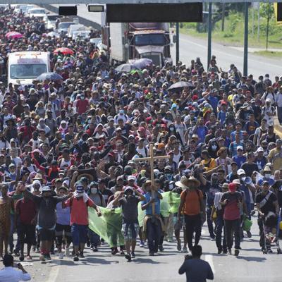 El éxodo masivo de centroamericanos se concentra en México