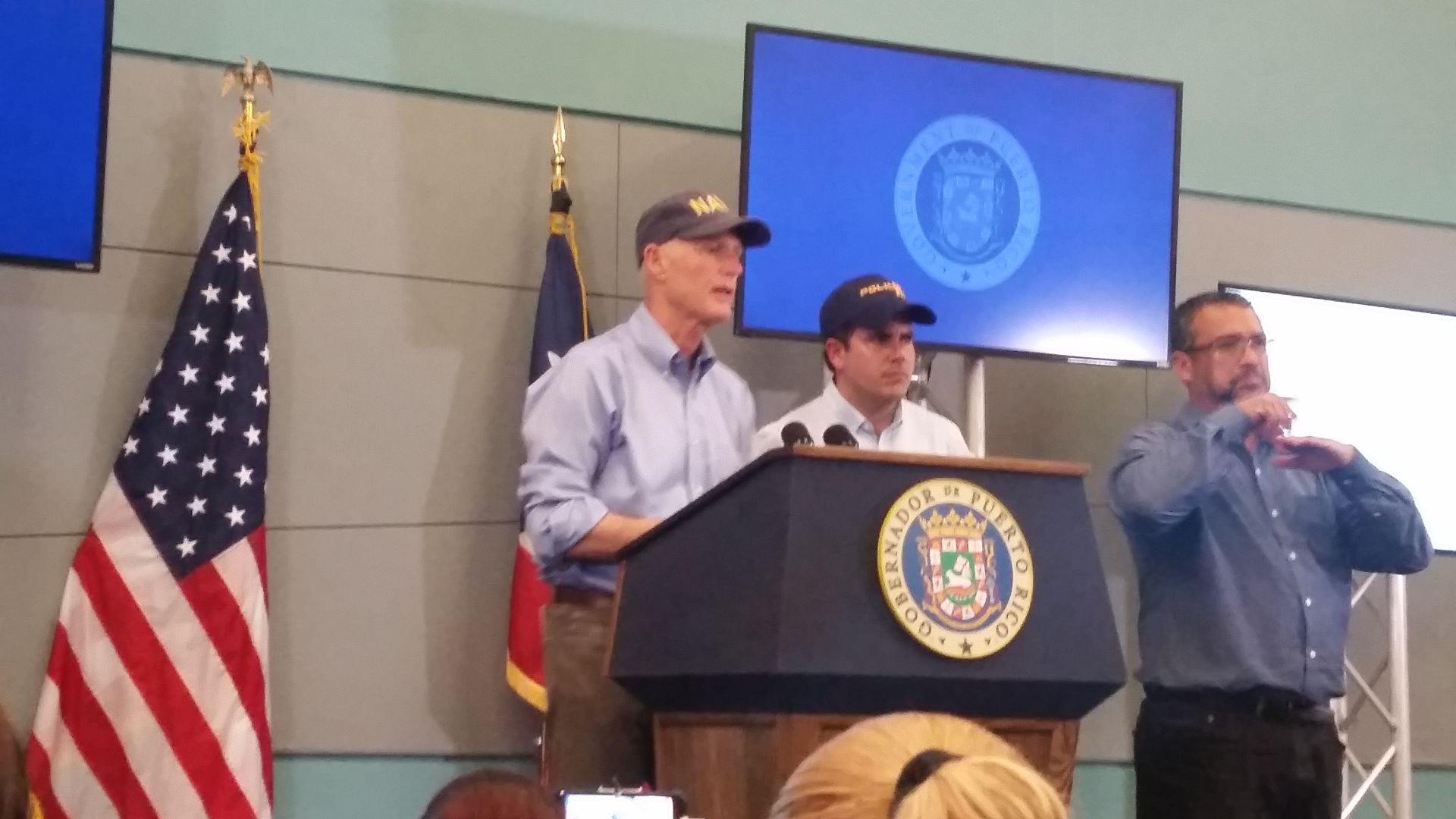 Gobernador de Florida ofrece ayuda a damnificados de PR