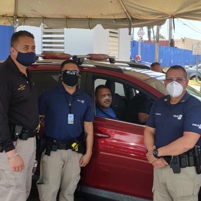 Dan de alta a agente atropellado en Arecibo