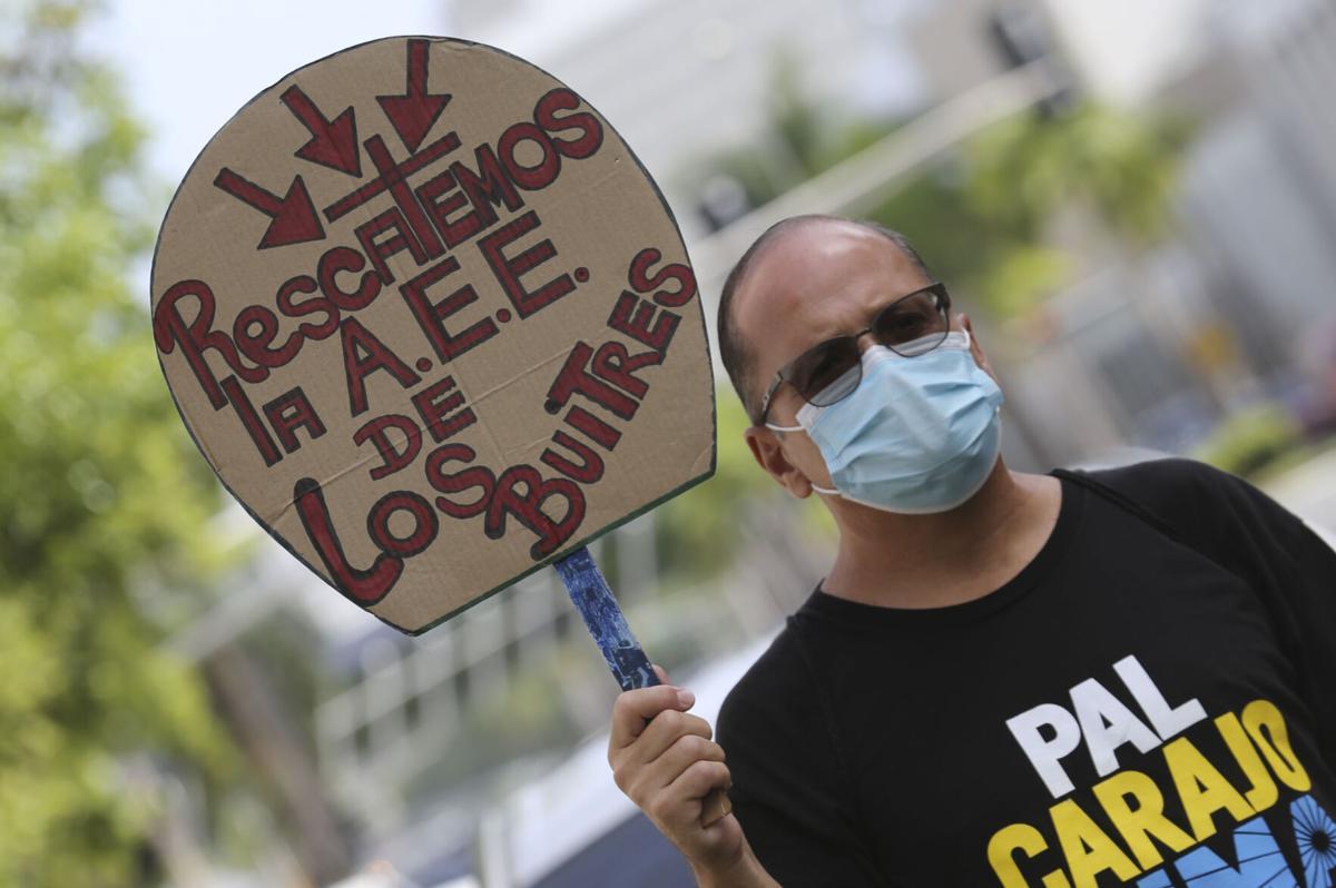 Manifestación del Frente Amplio todo Puerto Rico contra LUMA
