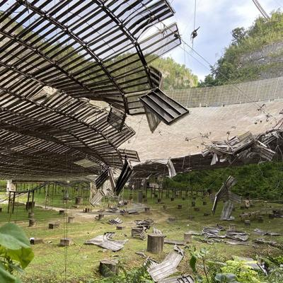 Suspenden operaciones en Observatorio de Arecibo