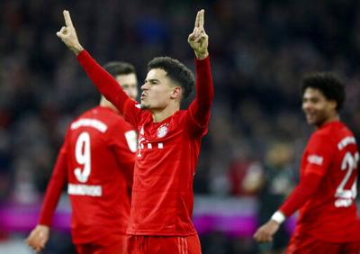 Coutinho firma tripleta y Bayern sonríe en la Bundesliga