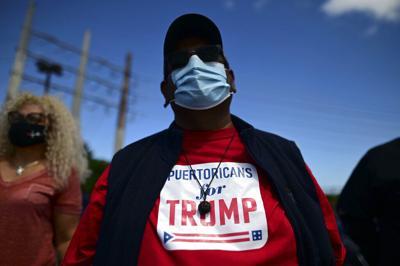 Nayda Venegas lidera caravana a favor de Donald Trump