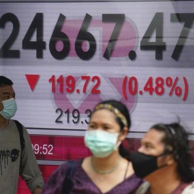 Fuerte caída de mercados mundiales por efectos del virus