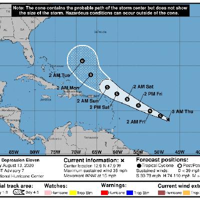 Continúan atentos a desarrollo de depresión tropical