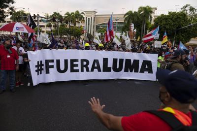 Marcha contra LUMA: así protestaron cientos de boricuas
